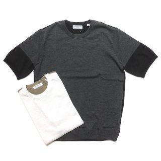 TOMORROWLAND トゥモローランド メンズ バイカラー ニットTシャツ