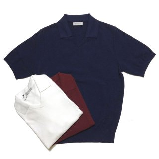 TOMORROWLAND トゥモローランド メンズ スキッパーカラー ニットポロシャツ