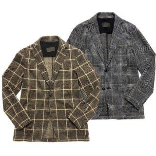 altea アルテア グレンチェック ウールジャージー 2Bジャケット