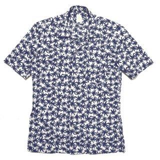 Finamore フィナモレ BART バート ボタニカルプリント オープンカラー ショートスリーブシャツ