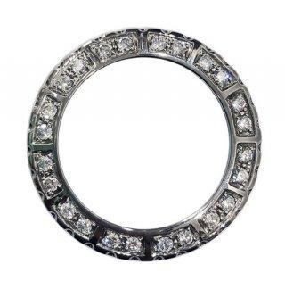 【即納】大粒ダイヤモンド シャネルJ12 メンズ 38�用 24Pアフターダイヤベゼル VSクラス