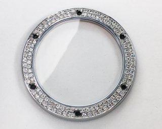 【即納】HUBLOT ウブロ クラシックフュージョン用 アフターダイヤベゼル 天然ダイヤ サファイアガラス使用