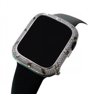 【即納】】Apple Watch アップルウォッチ Series 4-5 40mm アフターダイヤベゼルケース VSクラス天然ダイヤ