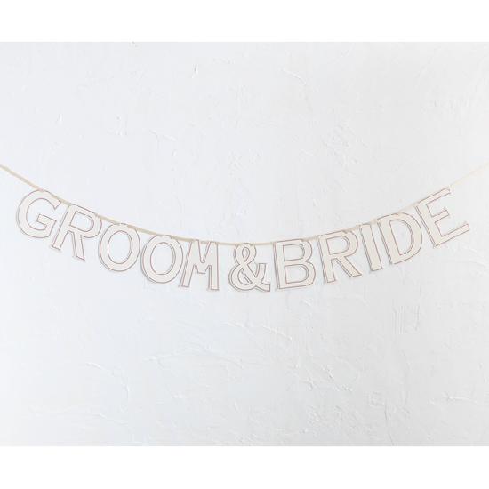 ペーパーガーランド GROOM&BRIDE