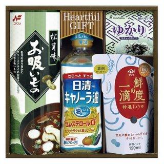 【送料無料】 日清キャノーラ油&鮮度の一滴しょうゆ詰合せ ( 21M19-07 )