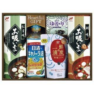 【送料無料】 日清キャノーラ油&鮮度の一滴しょうゆ詰合せ ( 21M19-08 )