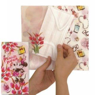 【メール便可】ディズニー 抗菌マスクケース 3ポケットタイプ ファッションミニー(DSN-MSK3P-018)