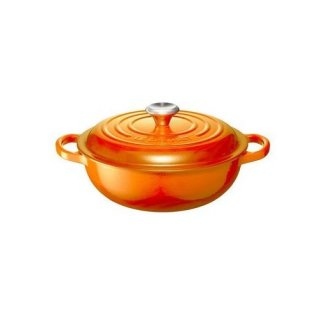 【送料無料】ル・クルーゼ LE CREUSET シグニチャーマルミットグルメ22cm・オレンジ(lec-024147304913)