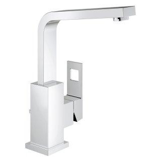 ユーロキューブ シングルレバー洗面混合栓(引棒付)