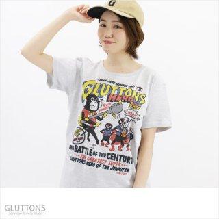 【Gluttons】GLUTTONS HERO スプーンを持って戦うぞTシャツ