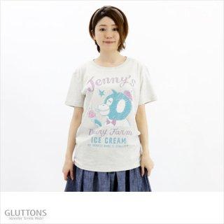 【Gluttons】アイスをぺろりひと舐めTシャツ