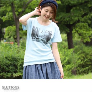 【Gluttons】ジェニ&エド、NATURAL LOVER Tシャツ