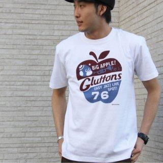 【Gluttons】BIGアップル柄、メンズTシャツ