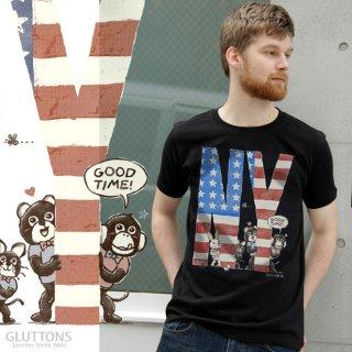【Gluttons】グルトンズ*NY!WALK、WALK♪♪メンズTシャツ