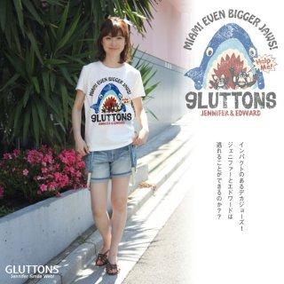 【Gluttons】巨大JAWS 現る・・あれれ?その正体は?!Tシャツ