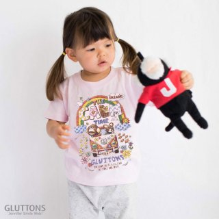 【Gluttons】大きな虹が!グルトンズワゴンでレッツゴー☆キッズ Tシャツ