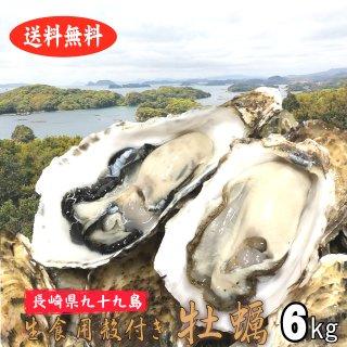 【生食用】【送料無料】長崎県九十九島産殻付き牡蠣 7kg【クール便!】