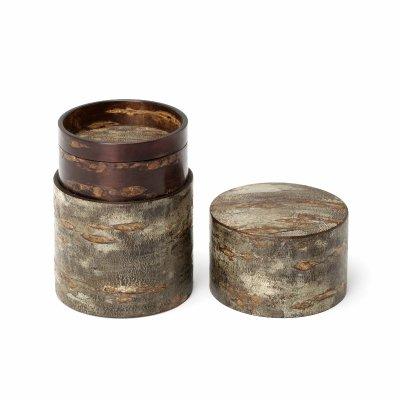 素筒 茶筒(大)霜降皮
