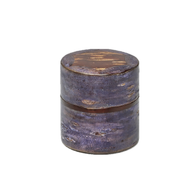【オンラインストア限定】総皮茶筒 星影 霜降皮 紫 ※19,800円の品