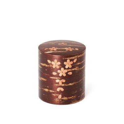 総皮茶筒(平)散花