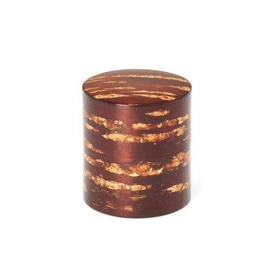 素筒 茶筒(平)無地皮