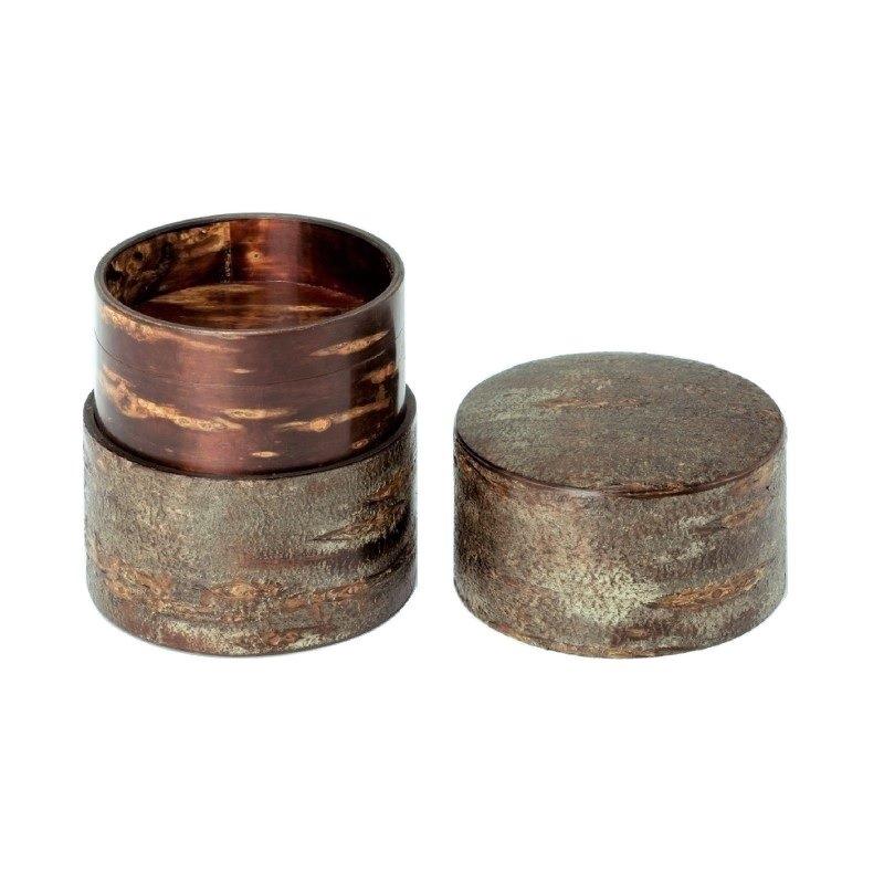 素筒 茶筒(平)霜降皮