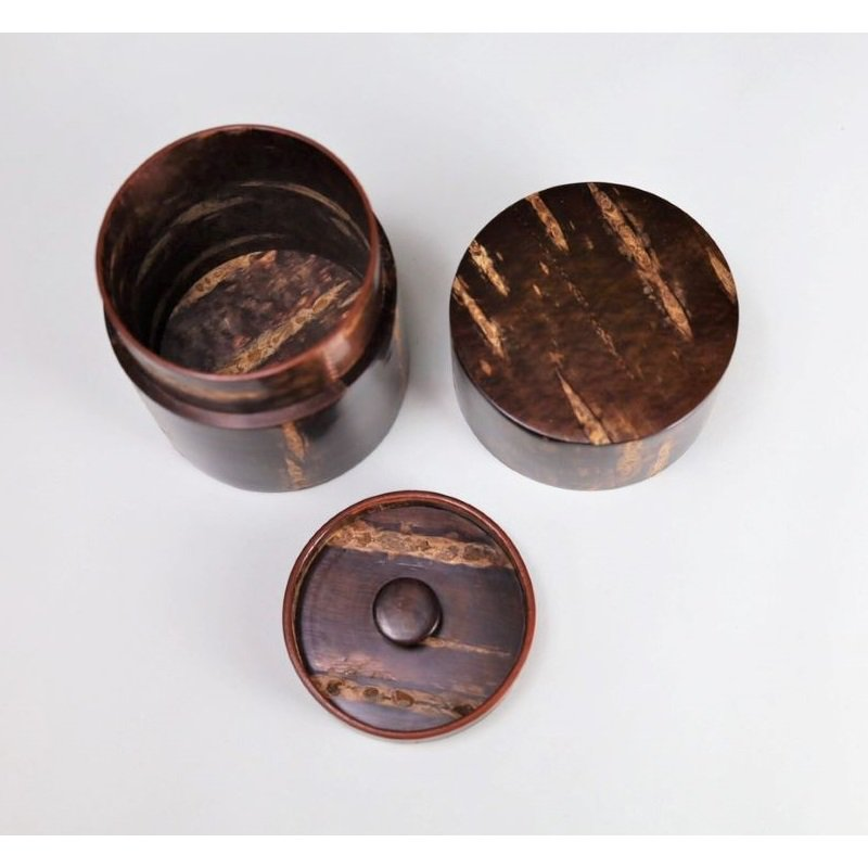 総皮茶筒(細型小)無地皮(荒川慶太郎 作)