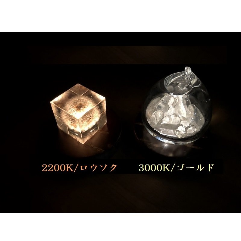 Light Base maru 無地皮+霜降皮(3000K/ゴールド)
