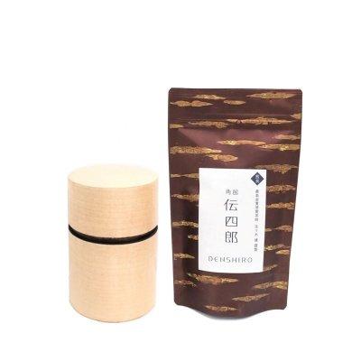 オリジナル茶・茶筒セット【帯筒(大)かえで】