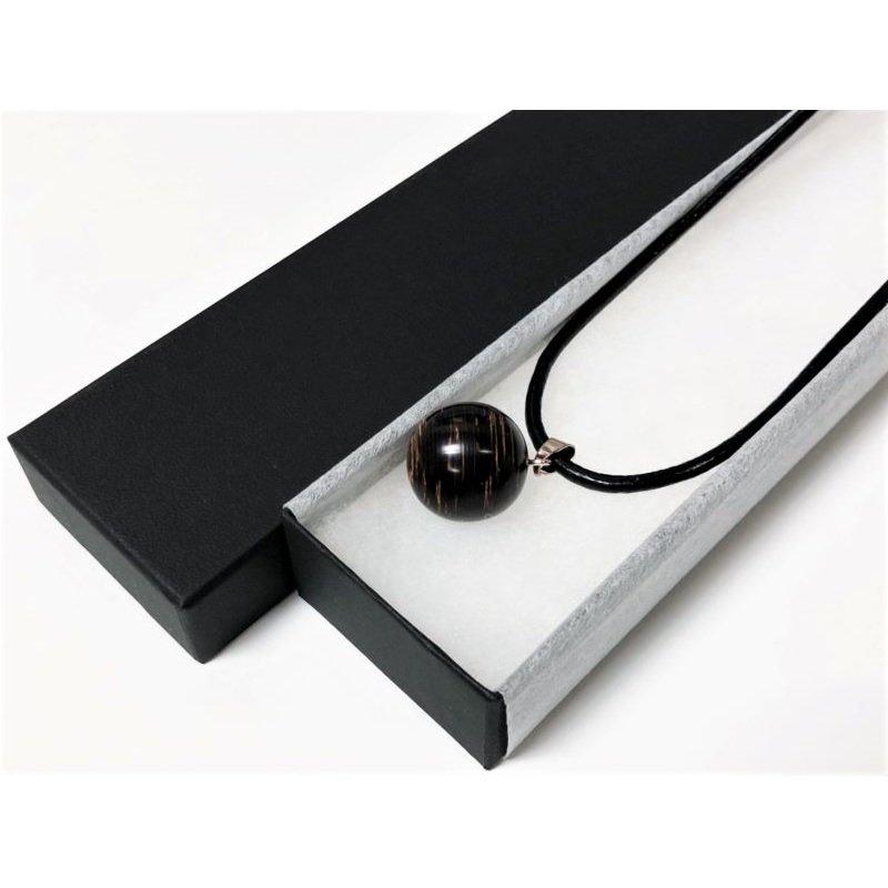 たたみペンダント/革紐ブラック