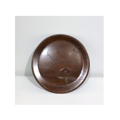 【お買得品】丸盆(中) 椿 ※3,300円の品