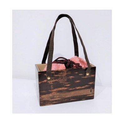 【お買得品】桜皮バッグ 巾着付き ※25,000円(税抜)の品
