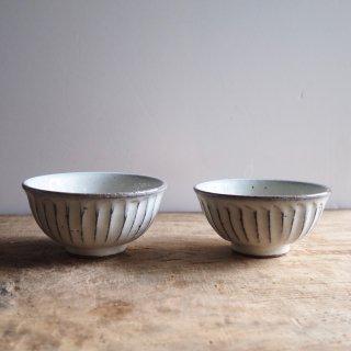 信楽焼 立彫り 飯碗