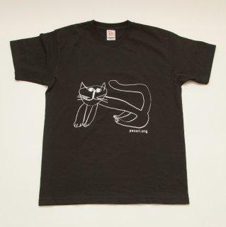 ギフトにオススメ ほのぼのとした猫柄Tシャツ