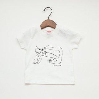【キッズ】ほのぼのとした猫Tシャツ