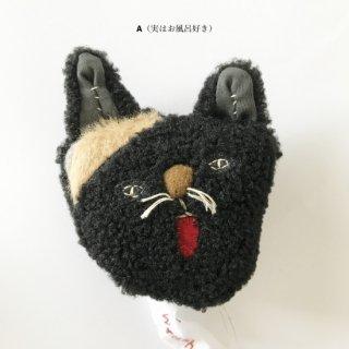 作家:tsuyu 飾り猫(ブローチ) 黒猫へにゃ兄弟