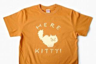 【山鳩舎 / みやぎちか】Here Kitty! Tシャツ