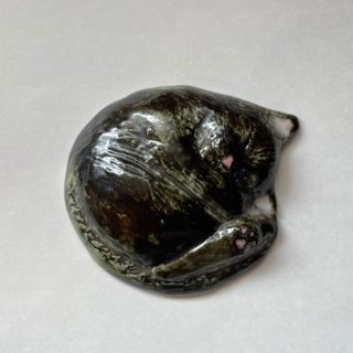 【うつわやみたす】陶器 箸置き・黒猫