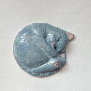 【うつわやみたす】陶器 箸置き・グレー猫