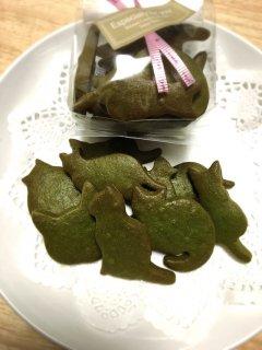 ねこクッキー(抹茶)