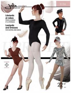 型紙(新体操・器械体操・フィギュアスケート・ダンス・チア・バレエ / レオタード コスチューム 衣装型紙)3136