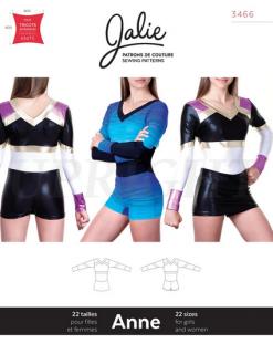 型紙(新体操・器械体操・フィギュアスケート・ダンス・チア・バレエ / レオタード コスチューム 衣装型紙)3466