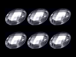 アクリルストーン オーバル型 CR 14×10【6個】(003)