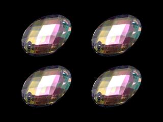 アクリルストーン オーバル型 AB 18×13【4個】(006)