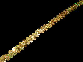 ストレッチ スパンコールブレード 1Row Gold HG(102)