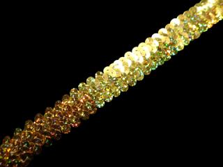 ストレッチ スパンコールブレード 2Row Gold HG(202)