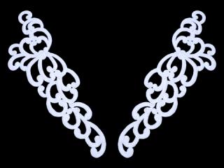 刺繍・レース ペア モチーフ(C2073)