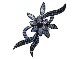 刺繍・レース シングル モチーフ(B8142)