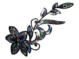 刺繍・レース シングル モチーフ(B8135)