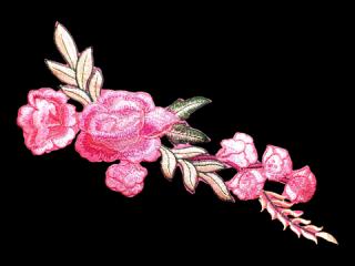 刺繍・レース シングル モチーフ(B1137)